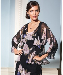 Chesca Silk Chiffon Jacket