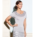 Gray and Osbourn Beaded Knitted Top