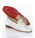 HB Paisley Cut Out All Leather Loafers
