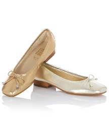 Riva Bow Trim Ballet Pumps
