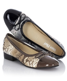 Van Dal Snake Print Pumps