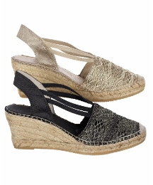 HB Shoes Lace Trim Espadrilles