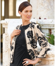 Gray & Osbourn Sequin Roses Jacket