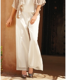 Pomodoro Georgette Wide Leg Trousers