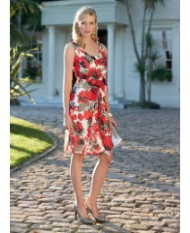 Gina Bacconi Sleeveless Print Dress