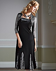 Gray & Osbourn Velvet and Lace Dress