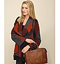 Patchwork Knitted Blanket Coat