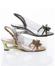 Gray & Osbourn Flower Trim Slingbacks