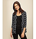 Frank Lyman Wave Stripe Jersey Jacket