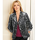 Gray & Osbourn Crushed Velvet Jacket