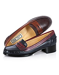 HB Shoes Contrast Leather Loafers