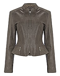 Betty Barclay Perforated Leather Jacket