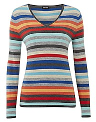 Gerry Weber Multi Stripe V Neck Jumper