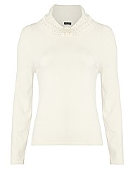 Gerry Weber Diamante Roll Neck Jumper