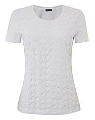 Gerry Weber Crochet-overlay Jersey Top