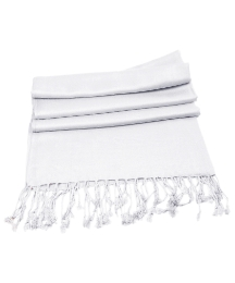 Petal Dolls White Pashmina Scarf