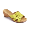 Lotus Flower Wedge Mule Sandals E Fit