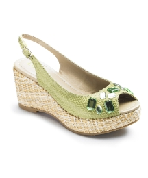Lotus Wedge Open Toe Slingbacks E Fit