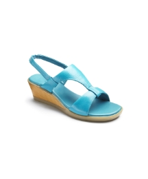 Footflex By Lotus Wedge Sandals EEE Fit