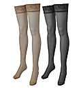 Naturally Close Pack of 2 Lace Stockings