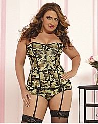 Seven Til Midnight Camoflage Corset