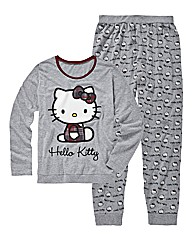 Hello Kitty Grey Marl Pyjama Set