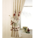 Poppy Lined Curtains & Tie Backs
