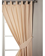 Lined Tab Top Plain Dyed Curtains