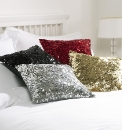 Glitzy Sequin Filled Cushion