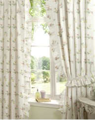 Rosalyn Unlined Curtains & Tie Back