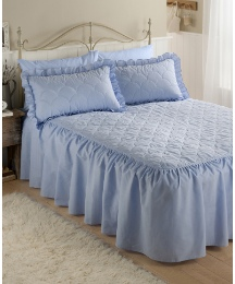 Charlotte Plain Dyed Fitted Bedspread