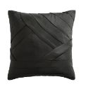 Layered Pleat Filled Square Cushion