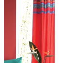 Hibiscus Lined Curtains/ Tie Backs