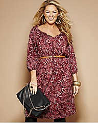 Claire Sweeney Print Jersey Dress