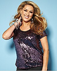 Claire Sweeney Sequin T-Shirt