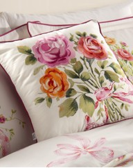 Vintage Bouquet Square Filled Cushion