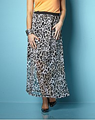 Claire Sweeney Animal Print Maxi Skirt