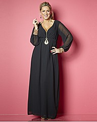 Claire Sweeney Embellished Maxi Dress