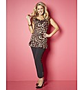 Claire Sweeney Peplum Jersey Top