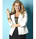 Claire Sweeney Collarless Biker Jacket