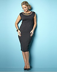Claire Sweeney Embellished Fitted Dress