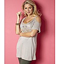Claire Sweeney Cut Out Jersey Top