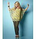 Claire Sweeney Pleat Print Blouse