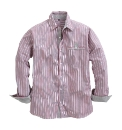 Williams & Brown Roll Up Stripe Shirt