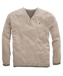 Williams & Brown Button V Neck Jumper