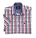 Raging Bull Short Sleeve Check Shirt