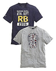 Raging Bull Pack 2 T-Shirts