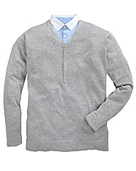 Williams & Brown Mock Insert Sweater