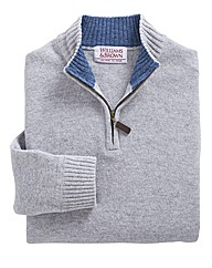 W&B 1/4 Zip Lambswool Jumper