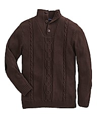 Peter Gribby 1/4 Button Jumper